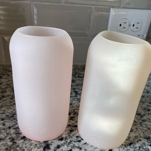 bkr Pale Paink Silicone Sleeve for Glass Bottles